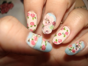 Floral nail art tutorials2