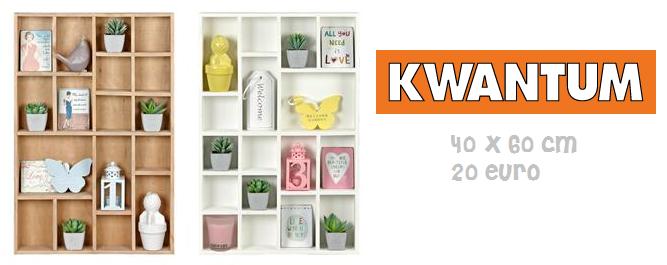 Kwantum u2013 u20ac20,- Afmetingen: 60u00d740 cm u2013 Kleur: hout of wit.