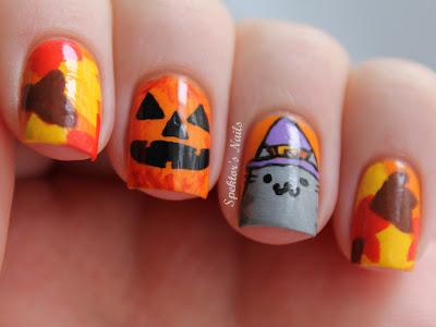Halloween_Fall_Pusheen_Nails_A