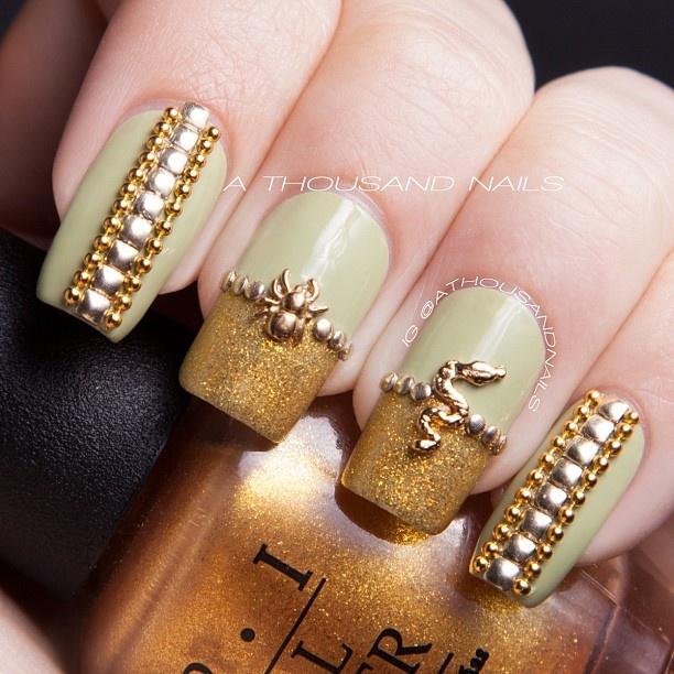 Diamond Stud Nail Designs